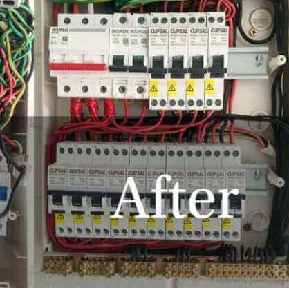 Darwin Electricians and Air Conditioning Gallery - Electrical Junction Box After Maintenance Works